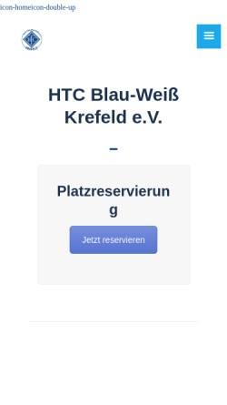 Vorschau der mobilen Webseite www.blau-weiss-krefeld.de, HTC Blau-Weiß Krefeld