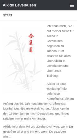 Vorschau der mobilen Webseite www.aikido-leverkusen.de, Aikido Leverkusen