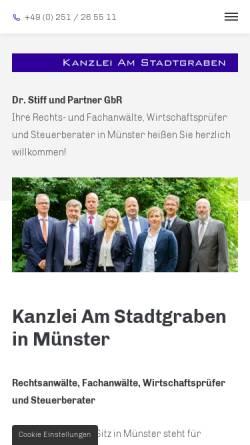 Vorschau der mobilen Webseite www.kanzlei-am-stadtgraben.de, Kanzlei am Stadtgraben