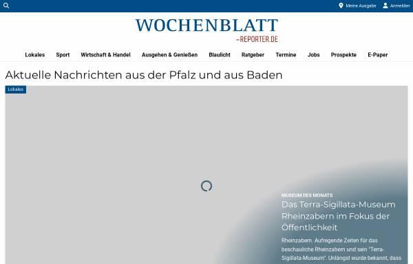 Vorschau von www.wochenblatt-reporter.de, Wochenblatt / Stadtanzeiger / Trifelskurier