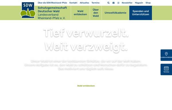 Vorschau von www.sdw-rlp.de, Schutzgemeinschaft Dt. Wald - LV. Rheinland-Pfalz e.V.