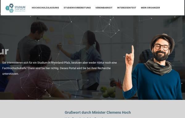 Vorschau von www.studium-ohne-abitur-rlp.de, Studieren ohne Abitur in Rheinland-Pfalz