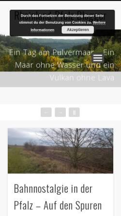 Vorschau der mobilen Webseite www.rheinland-pfalz-blogger.de, Rheinland-Pfalz Blogger
