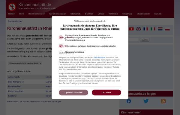 Vorschau von www.kirchenaustritt.de, Kirchenaustritt in Rheinland-Pfalz
