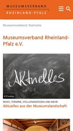 Vorschau der mobilen Webseite www.museumsverband-rlp.de, Museumsverband Rheinland-Pfalz e. V.