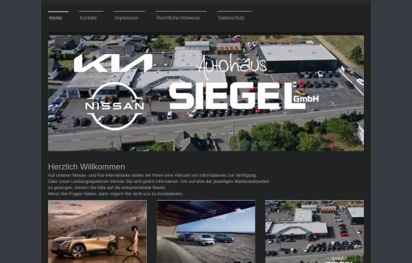 Vorschau von www.autohaus-siegel.de, Autohaus Siegel GmbH