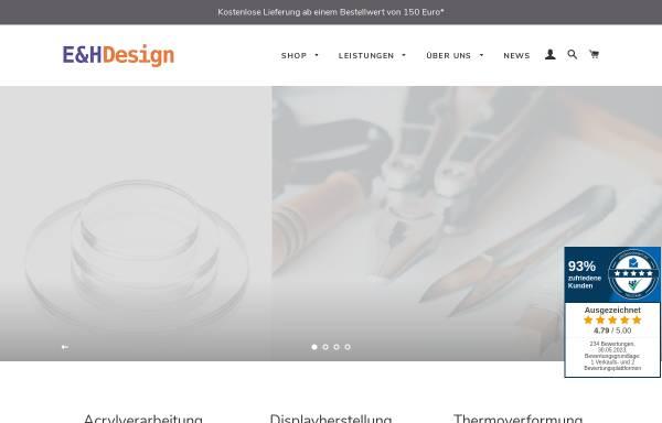 Vorschau von www.eh-design.de, E&H DESIGN Kunststoffverarbeitungs GmbH