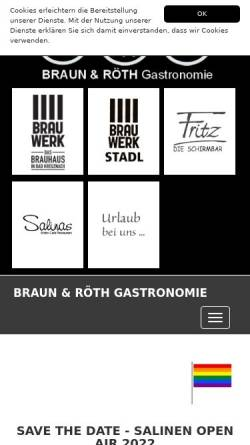 Vorschau der mobilen Webseite www.braunundroethgastronomie.com, Braun & Röth Gastronomie