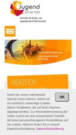 Vorschau der mobilen Webseite www.fachstellejugend-badkreuznach.de, fachstellejugend-badkreuznach