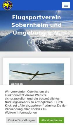 Vorschau der mobilen Webseite www.edrs.info, Flugsportverein Sobernheim und Umgebung e.V.