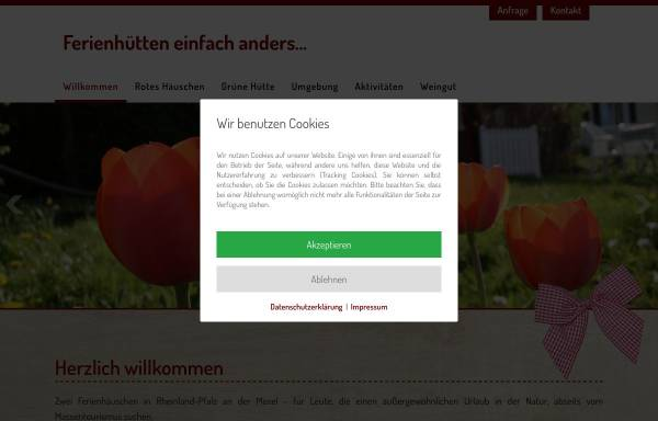 Vorschau von www.moselbett.de, Ferienhütten einfach anders...