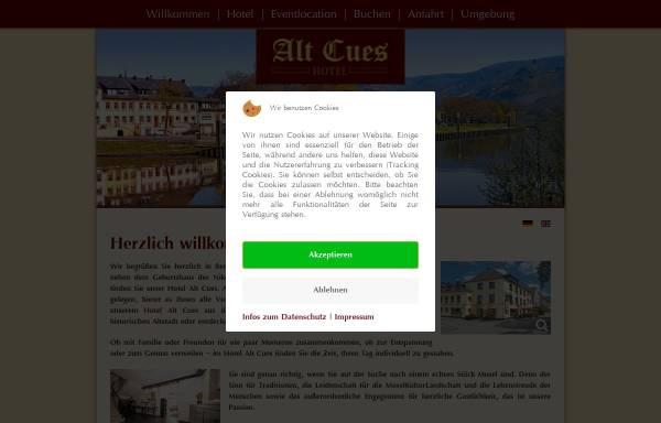 Vorschau von www.hotel-bernkastel-kues.com, Hotel Alt Cues