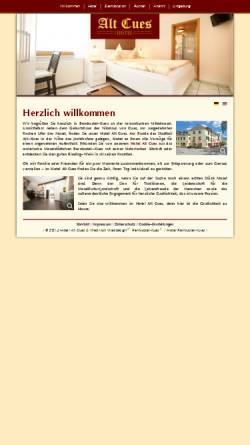 Vorschau der mobilen Webseite www.hotel-bernkastel-kues.com, Hotel Alt Cues
