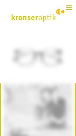 Vorschau der mobilen Webseite www.kronseroptik.de, Kronseroptik