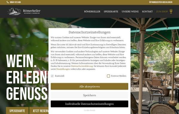 Vorschau von roemerkeller-kroev.de, Restaurant Römerkeller