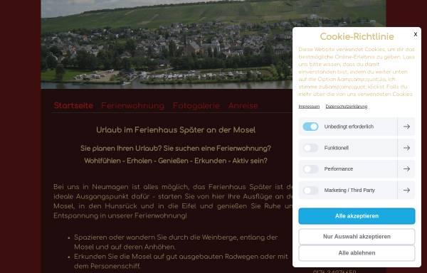 Vorschau von www.ferienwohnungmosel.com, Ferienhaus Später Neumagen/Mosel
