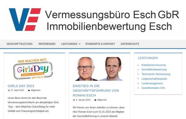 Vorschau von oebvi-esch.de, Vermessungsbüro Esch