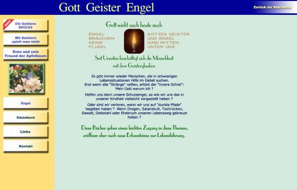 Vorschau von www.gott-mit-uns.org, Gott - Geister - Engel