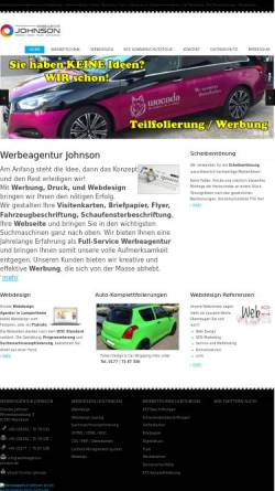 Vorschau der mobilen Webseite www.werbeagentur-johnson.de, Christos Johnson