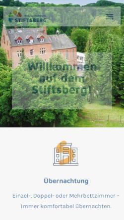 Vorschau der mobilen Webseite www.stiftsberg.info, Stiftsberg - Bildungs- und Freizeitzentrum