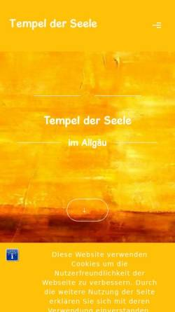 Vorschau der mobilen Webseite www.muster-der-seele.de, Muster der Seele