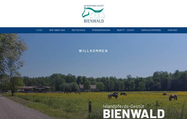 Vorschau von www.bienwald.com, Islandpferde-Gestüt Bienwald