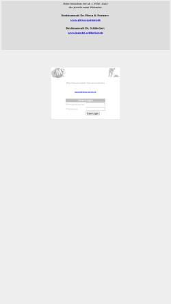 Vorschau der mobilen Webseite plewa-schliecker.de, Rechtsanwälte Dr. Dietrich Plewa und Dr. Christian Schliecker