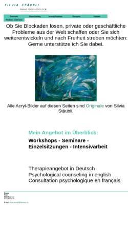 Vorschau der mobilen Webseite www.therapie-staeubli.ch, Therapie für spirituelle Psychologie
