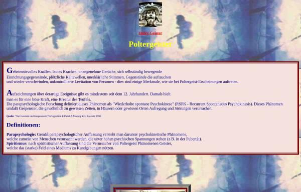 Vorschau von www.paranormal.de, Wenn Geister sich bemerkbar machen...