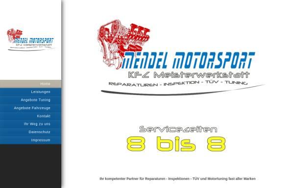 Vorschau von www.mendel-motorsport.de, Mendel Motorsport