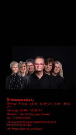 Vorschau der mobilen Webseite mueller-brillen.de, Müller Brillen