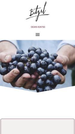 Vorschau der mobilen Webseite bitzel.com, Weingut Bitzel und Weinstube FassReiwerle