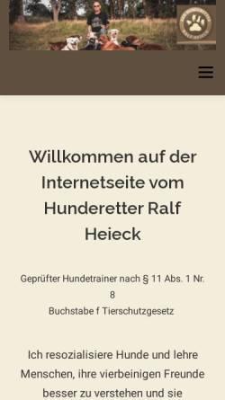 Vorschau der mobilen Webseite www.der-hunderetter.de, Hunderetter Ralf Heieck