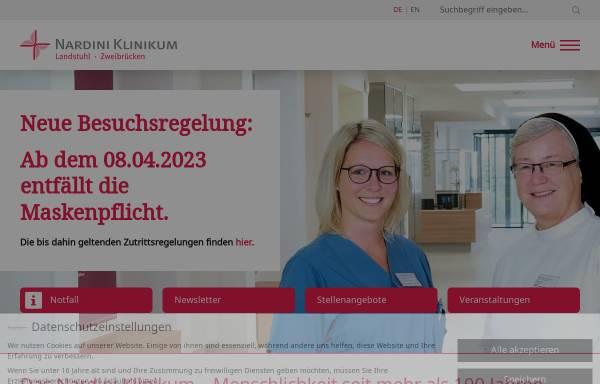 Vorschau von www.nardiniklinikum.de, Nardini Klinikum GmbH - St. Johannis-Krankenhaus Landstuhl