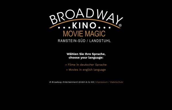 Vorschau von www.broadwaykino.de, Broadwaykino - Ramstein-Süd/Landstuhl