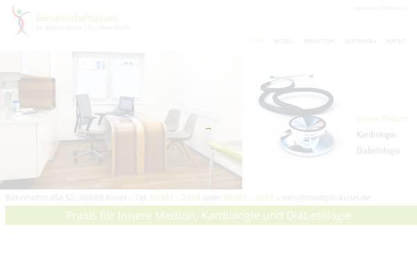 Vorschau von www.medizin-kusel.de, Gemeinschaftspraxis Dres. A. & O. Kusch, O. Braun - Kusel