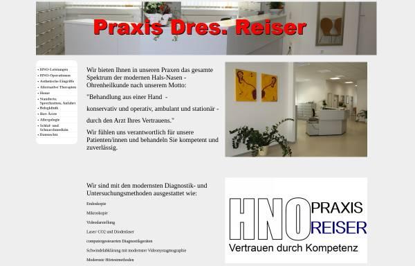 Vorschau von www.reiser-kusel.de, HNO Praxis Dres. Reiser - Kusel