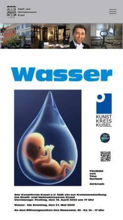 Vorschau der mobilen Webseite museum.kusel.de, Stadt- und Heimatmuseum Kusel