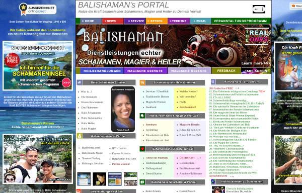 Vorschau von balishaman.com, Balishamans Portal