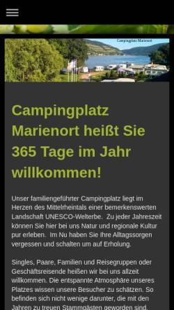 Vorschau der mobilen Webseite www.campingplatz-marienort.de, Campingplatz Marienort