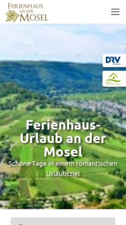 Vorschau der mobilen Webseite www.ferienhaus-mosel.de, Ferienhaus Mosel - Thorsten Blum