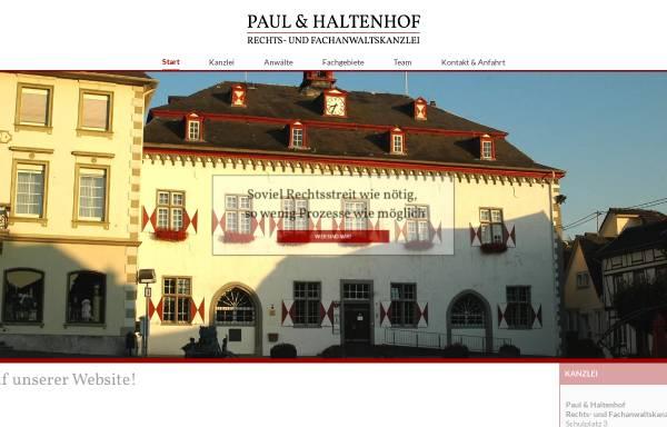 Vorschau von www.paul-haltenhof.de, Paul & Haltenhof Rechts- und Fachanwaltskanzlei