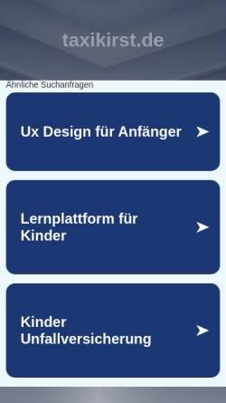 Vorschau der mobilen Webseite www.taxikirst.de, Taxi Kirst - Busreisen Kirst GmbH
