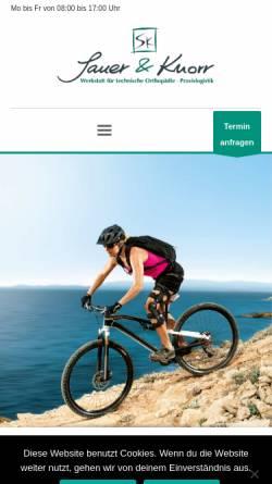 Vorschau der mobilen Webseite sauer-knorr.de, Sauer und Knorr GmbH