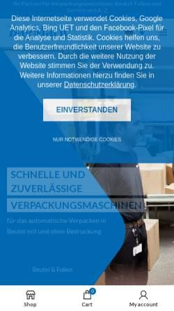 Vorschau der mobilen Webseite www.bagmatic.de, Bagmatic