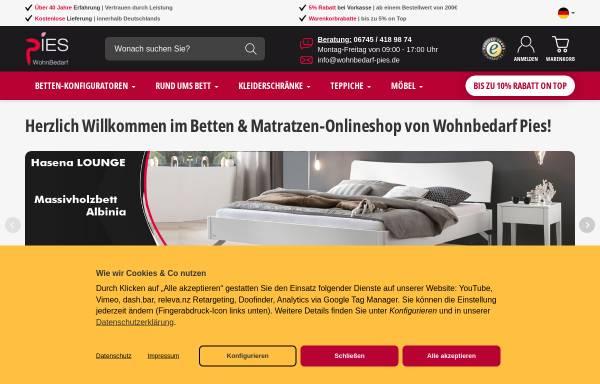 Vorschau von www.wohnbedarf-pies.de, Wohnbedarf Pies