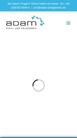 Vorschau der mobilen Webseite www.adam-anlagenbau.de, Adam Anlagen- und Maschinenbau GmbH