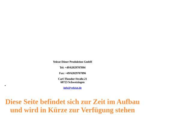 Vorschau von www.yektat.de, Yektat Döner Produktion GmbH