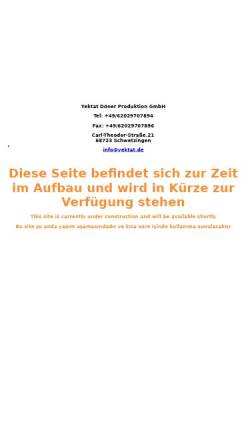 Vorschau der mobilen Webseite www.yektat.de, Yektat Döner Produktion GmbH
