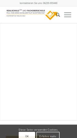 Vorschau der mobilen Webseite rsfos-schifferstadt.de, Realschule plus und Fachoberschule im Paul-von-Denis-Schulzentrum Schifferstadt